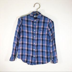 Madewell Shirt Plaid. Blue Sz. XS